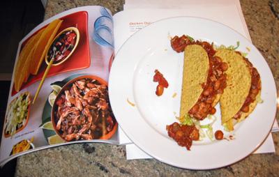 Chili Chicken Mole tacos