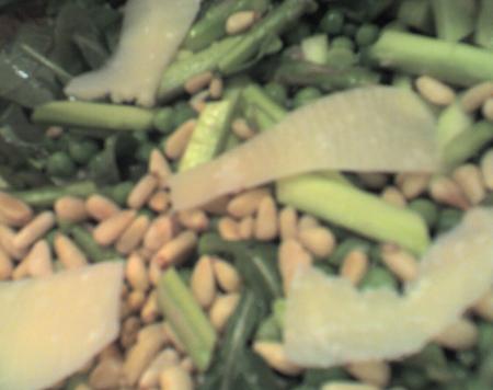 Sunday Salad Samplers #3 – Raw Asparagus, Pea, and Arugula Salad