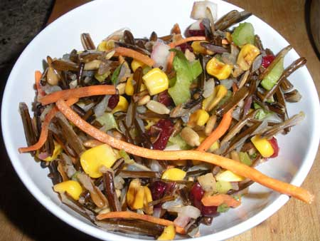 Roasted Corn and Wild Rice Salad